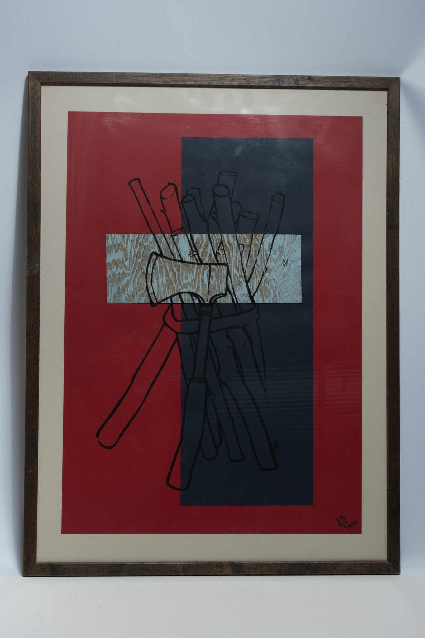 Lot 31 - Abstract Woodcut monogrammed A.D