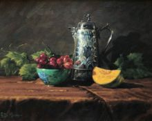 Winter Vegetables by Scottish artist Peter Munro Born 1954. Exhibited R.S.A