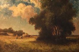 Harvest time by Percy Leslie Lara, British bn 1870, Exhib RA & ROI