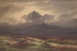 Charles Edward Brittan 1870-1949 watercolour, Glen Lyon Perthshire.