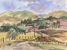 Winding road in the Grampians by Scottish artist Robert Hardie Condie RSW 1898-1981