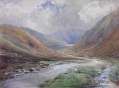 "Thomas Swift Hutton 1860-1935 Exhibited RA, RSA Watercolour ""Highland Glen"""