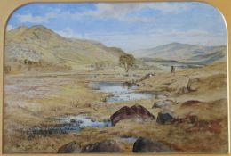 Glenshee watercolour by scottish artist Waller Hugh Paton 1828-1895 R.S.A, R.S.W