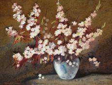 Cherry Blossom waterccolour by Scottish artist James Gray exhib G.I, R.S.A, R.A