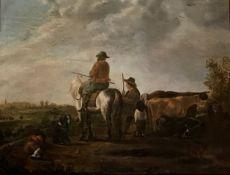 Dutch cattle drovers, Unsigned Circa 1780-1800