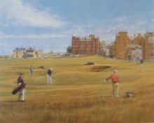 Signed artist proof 17th St Andrews golf course by Scottish artist Peter Munro