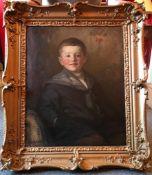 Portrait of a boy, by Scottish artist Robert Hope,1869-1936 exhib R.A, R.S.A, R.S.W