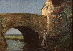 """Percy Lancaster 1879-1951 Oil """"Women at the riverside"""""""