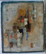 "Richard D Hazelwood original signed collage ""Paxos Autumn"""