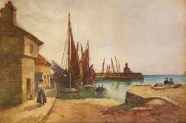 Fife Coast watercolour by George Neil Scottish artist 1888-1930
