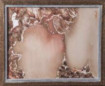 """Reusing, Manfred (geboren 1933), Abstrakte Komposition, aus der Serie """"MakrokosmischeBilder"""","""