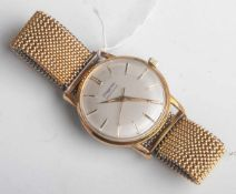 Herrenarmbanduhr, Dugena, Precision, wohl 1960er Jahre, Metall, vergoldet, Handaufzug,Flex-Band,