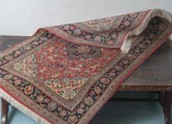 Seidenteppich, Ghom-Persien, in sehr gutem Zustand. Ca. 120 x 79 cm.