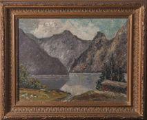 Unbekannter Künstler (20. Jahrhundert), Königssee bei München, Öl/Lw, li. u. sign.Riebling(?). Ca.