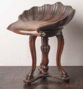 Außergewöhnlicher Klavierhocker, 2. Hälfte 19. Jahrhundert, Nußholz massiv, Unterbau mit