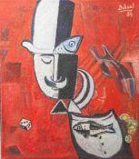 """Dohnal, Josef (geboren 1912), """"Der Traum"""", Öl/Lw., re. o. sign. u. dat. (19)84, rs. sign.,dat.,"""