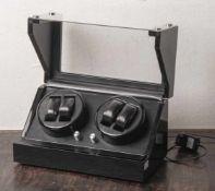 Uhrenbeweger-Kasten, Rothenschild, automatisch, schwarz, Bergamo 4-RS-2040-MCS, für vierUhren,