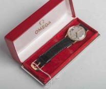 """Herrenarmbanduhr (Omega, wohl 1950/60er Jahre), bez. Modell """"De Ville"""", Aufzugswerk,Datumsanzeige,"""