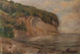 Unbekannter Künstler (20. Jahrhundert), Steilküste, Öl/Lw, li. u. unleserl. sign. Ca. 45 x60 cm,