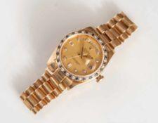 Rolex, Herrenuhr, Ref. 18148, Serien No. 8053xxx, Oyster Perpetual Day-Date in 750erGelbgold,