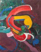 "Petersen, Paul (1935-2000), Komposition, Öl/Lw., re. u. sign. ""P"", ca. 60 x 47 cm, aufKeilrahmen"