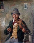 Richter, A. (19./20. Jahrhundert), Der Geigenspieler, Öl/Lw., re. u. sign., ca. 26,5 x 21cm,