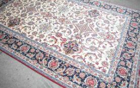 Isfahan, Korkwolle, sehr guter Zustand, Seitenkanten geschlossen, Fransen gleichmäßiglang, ca. 308 x
