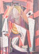 "Dohnal, Josef (geboren 1912), ""Die Plejaden (Abstrakt)"", Öl/Lw., re. o. sign. u. dat.(19)79, rs."