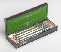 Konvolut von 2 Kugelschreibern und 1 Druckbleistift, 1950/60er Jahre, 2 x Silber 900, 1 xvers., bez.