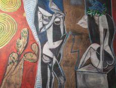 """Dohnal, Josef (geboren 1912), """"Komposition 1982 - Mai"""", Acryl/Lw., re. u. sign. u. dat.(19)82, rs."""