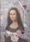 """Dohnal, Josef (geboren 1912), """"Stillleben, Renaissance-Collage"""", Acryl/Lw., mittig u.sign. u."""