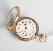 Savonette Damentaschenuhr 585 RG/GG/14K (IWC, Reichgoldstempel/Reichskrone inSonnenzeichen/