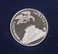 Großer Berliner Schautaler von 1678, Replik, Deutschland 1990, Silber 500/1000, 11,2 g.,Dm. 30,1 mm,