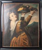 Unbekannter Kopist (19. Jahrhundert), Mädchen mit Fruchtschale, Darstellung der Lavinianach