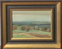 Unbekannter Künstler (19./20 Jahrhundert), Dorfansicht, Öl/Malpappe, re. u. sign., rs.Stempel (Buch-