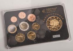 100 Goldeuro-Satz (Entwurf, Österreich 2014), vergoldet. Auflage 50.000.- - -21.00 % buyer's premium