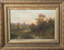 Schönberger, Alfred Karl Julius von (1845-1907), Blick auf Kronberg, Öl/Lw., re. u. sign.,ca. 33 x