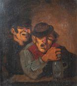 Unbekannter Maler (19./20. Jahrhundert), Trinkkumpanen, Öl/Malpappe, rs. sign. u. bez.,ca. 39 x 32