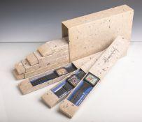 "7er Satz Hundertwasser-Armbanduhren (Ars Mundi, 1990-1999), Genesis-Edition ""Die"