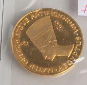 """2 1/2 Dukaten """"Mater Operum Atque Artificiorum, Aegyptus"""" (Deutschland, 1958), 980/1000Gold, Kopf"""