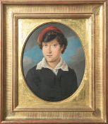 Kieffer, Philipp (1774 - 1833/43), Portrait eines Studenten, Öl/Holz, re. u. sign. u. dat.1824,