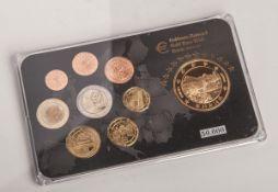 100 Goldeuro-Satz (Entwurf, Deutschland 2014), vergoldet. Auflage 50.000.- - -21.00 % buyer's