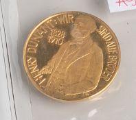 """Jubiläumsmedaille """"Henry Dunant: Wir sind alle Brüder"""" (Deutschland, 1963), 900/1000 Gold,100"""