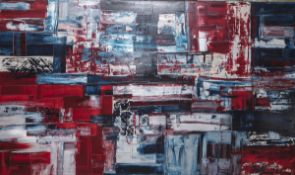 """Conti, Pietro (*1972 in Palermo), """"Solo per un momento"""", Öl/Acryl/Lw, re. u. sign. u. dat.(2007),"""