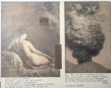Kirke, Franceska (geb. 1953), Collage, Öl/Lw./Papierflächen, Flächengestaltungzweigeteilt, weiß