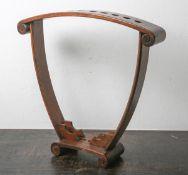 Billard-Halter (1950/60er Jahre), Tropenholz, für 10 Queues (Billardstöcke),Mahagonifarben, H. ca.