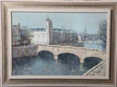 Shimada, Hiroyoshi (1948), Paris-Ansicht, Öl/Lw., li. u. sign., rs. bez., sign. u. dat.,ca. 38 x