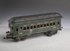 Gr. grüner Personenwagon, Hersteller K.B.N. (Karl Bub Nürnberg, wohl um 1930,Deutschland), Blech,
