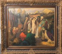 "Vidai Brenner, Nandor (*1903-?), ""Sklavenmarkt"", Öl/Lw., re. u. sign., rs. bez., ca. 50 x60 cm,"