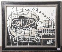 "Bredhauer, Anneliese/bré (1920-2007), ""Visuell"", Autolack/Leinwand, re. u. sign., re. o.sign.,"